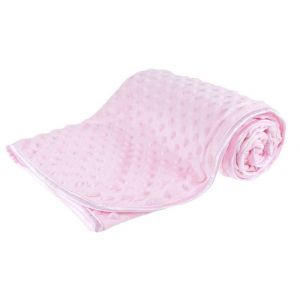 Any Name Pink Bubble Mink Wrap Baby Blanket