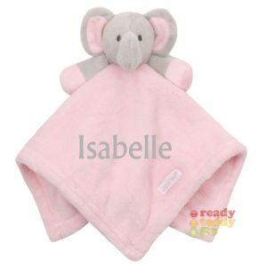 Pink Elephant Baby Comforter