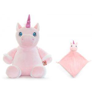 Starflower The Pink Unicorn Cubbie & Blankie Gift Set