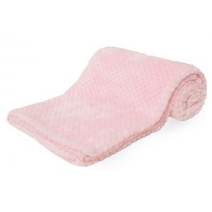 Any Name Pink Waffle Wrap Baby Blanket