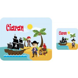 Pirates Hardboard Placemat & Coaster