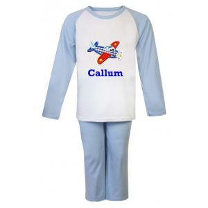 Aeroplane Any Name Embroidered Pyjamas