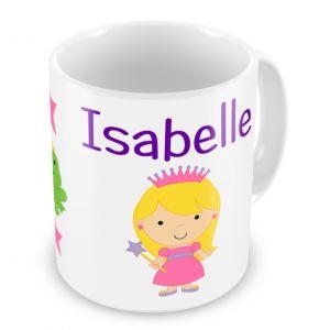 Choice of Princess + Name Mug