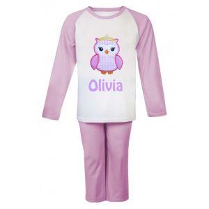 Princess Owl Any Name Embroidered Pyjamas