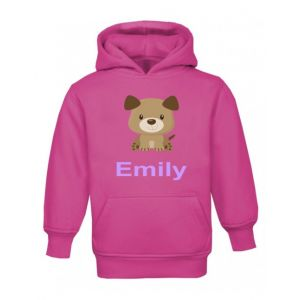 Puppy Dog Any Name Childrens Hoodie
