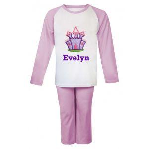 Purple Castle Any Name Embroidered Pyjamas