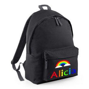 Rainbow Any Name Childs Rucksack