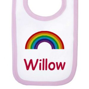 Any Name Rainbow Baby Bib
