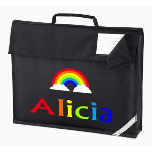 Rainbow Any Name Book Bag