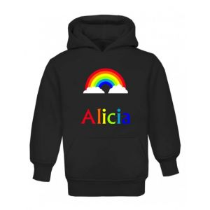 Rainbow Any Name Childrens Hoodie
