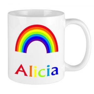 Rainbow + Name Mug