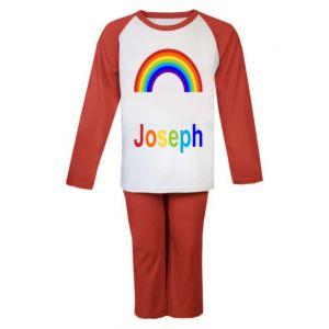 Rainbow Any Name Childrens Pyjamas