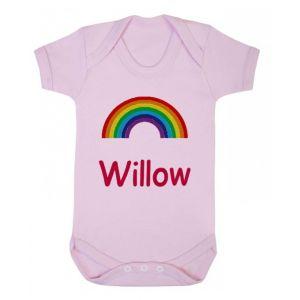 Any Name Rainbow Baby Vest