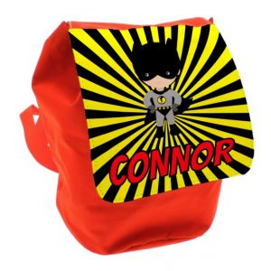Bat Boy Any Name Toddler Backpack