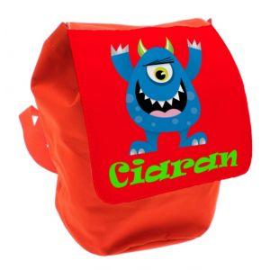 Blue Monster Any Name Toddler Backpack