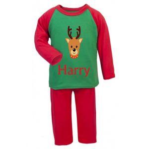 Christmas Reindeer Any Name Childrens Pyjamas