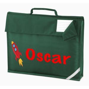 Rocket Any Name Book Bag