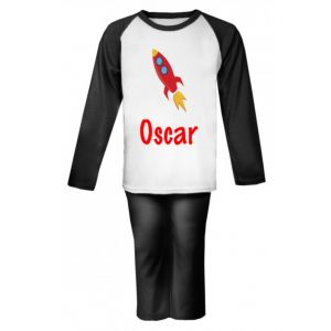 Rocket Any Name Childrens Pyjamas