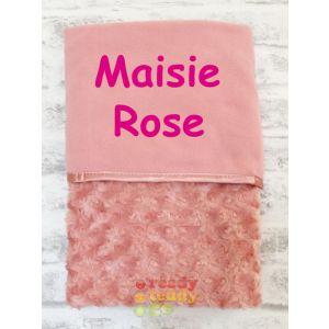 Any Name Rose Gold Rose Wrap Baby Blanket