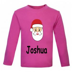 Christmas Santa Any Name Childrens Printed T-Shirt