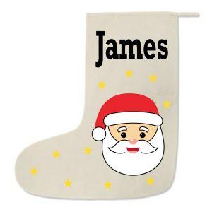 Santa Any Name Printed Christmas Stocking