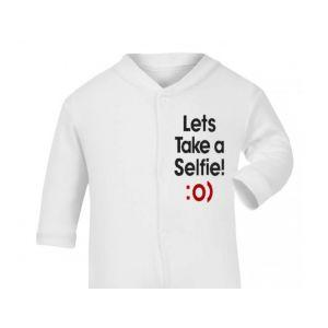 Lets Take A Selfie Baby Sleepsuit