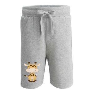 Giraffe Any Name Childrens Cotton Shorts