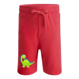 Cute Dinosaur Any Name Childrens Cotton Shorts