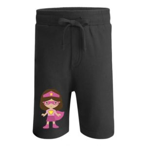 Superhero Girl Any Name Childrens Cotton Shorts