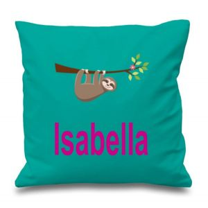 Sloth Any Name Printed Cushion