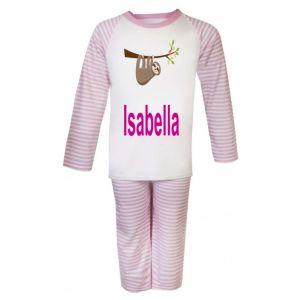 Sloth Any Name Childrens Pyjamas