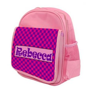 Choose Patterned Background Any Name Childs Backpack