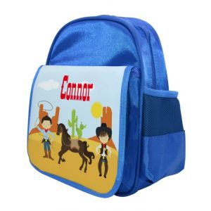 Cowboys Any Name Childs Backpack