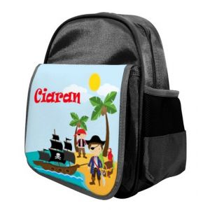 Pirates Any Name Childs Backpack
