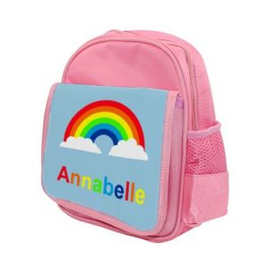 Rainbow Any Name Childs Backpack