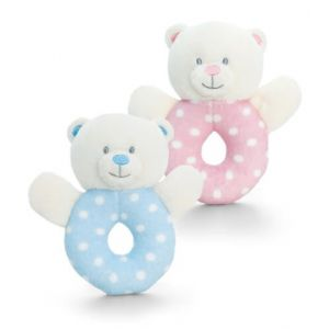 Baby Boy / Girl Bear Ring Rattle
