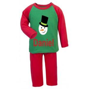 Christmas Snowman Any Name Childrens Pyjamas