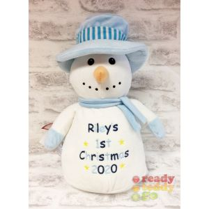Dr. Diddly Diddlington The Christmas Snowman Blue Top Hat