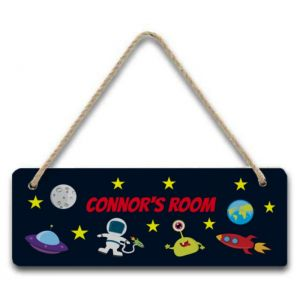 Outer Space Hanging Door Sign