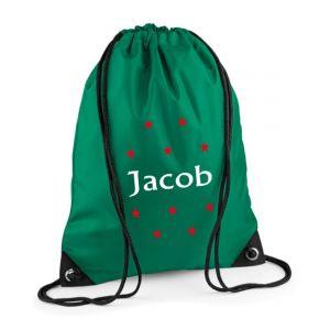 Stars Any Name Drawstring Bag