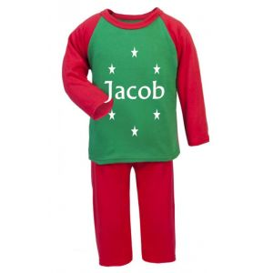 Stars Any Name Childrens Glow in Dark Pyjamas