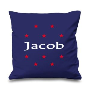 Stars Any Name Printed Cushion