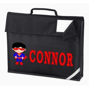 Superhero Boy Any Name Book Bag