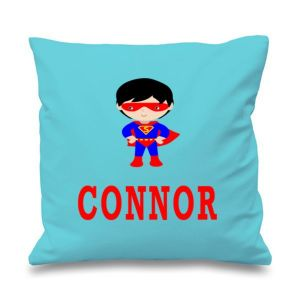 Super Boy Any Name Printed Cushion