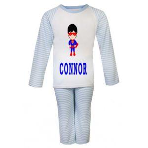 Superhero Boy Any Name Childrens Pyjamas