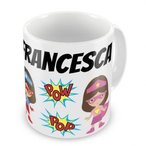 Super Heroes Girls + Name Mug