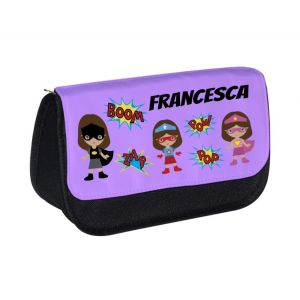 Super Heroes Girls Any Name Pencil Case