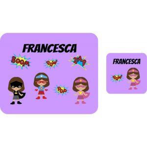 Super Hero Girls Hardboard Placemat & Coaster