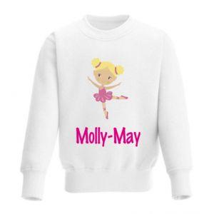 Ballet Dancer Any Name Childrens Sweatshirt / Jumper