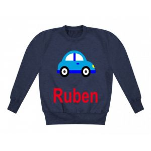 Car Any Name Childrens Sweatshirt / Jumper